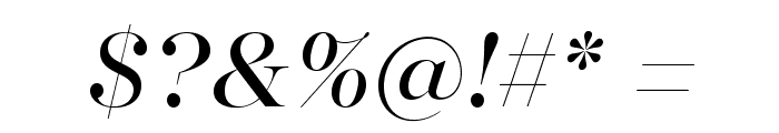 MajestiBanner-BookItalic Font OTHER CHARS