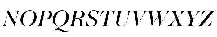 MajestiBanner-BookItalic Font UPPERCASE