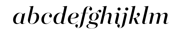 MajestiBanner-BookItalic Font LOWERCASE