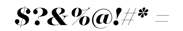MajestiBanner-HeavyItalic Font OTHER CHARS