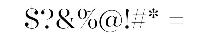 MajestiBanner-Light Font OTHER CHARS