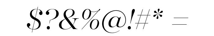 MajestiBanner-LightItalic Font OTHER CHARS