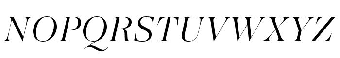 MajestiBanner-LightItalic Font UPPERCASE