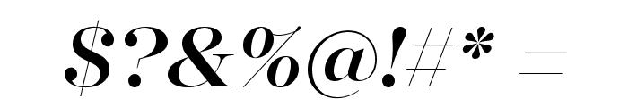 MajestiBanner-MediumItalic Font OTHER CHARS