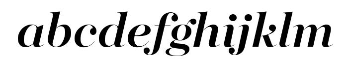 MajestiBanner-MediumItalic Font LOWERCASE