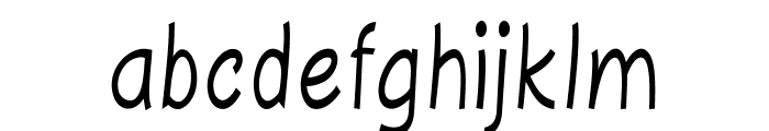 Majorca-CondensedRegular Font LOWERCASE