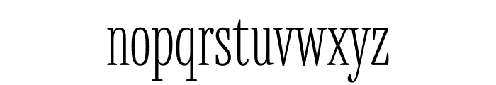 Mala Condensed ExtraLight Font LOWERCASE