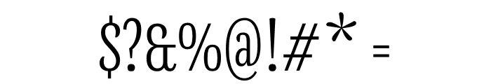 Mala Condensed Light Font OTHER CHARS