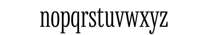 Mala Condensed Light Font LOWERCASE