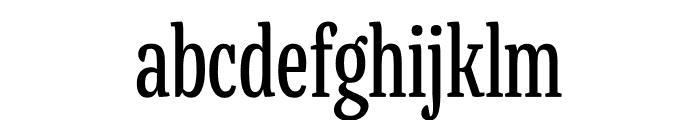 Mala Condensed Regular Font LOWERCASE