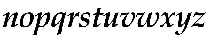 Manuscript Bold Italic Font LOWERCASE