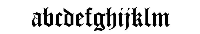 Manuscript Font LOWERCASE