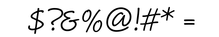 MaritaTextBookHMK Font OTHER CHARS