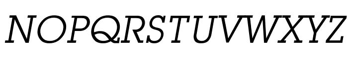 Mason Book Oblique Font UPPERCASE