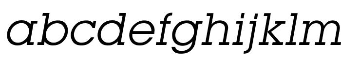 Mason Book Oblique Font LOWERCASE