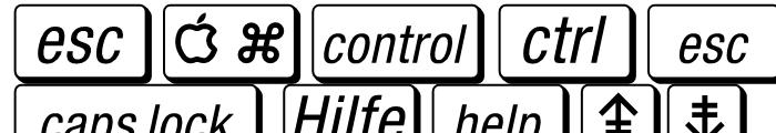 Mac Key Caps Pi Regular Font UPPERCASE