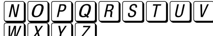 Mac Key Caps Pi Regular Font LOWERCASE