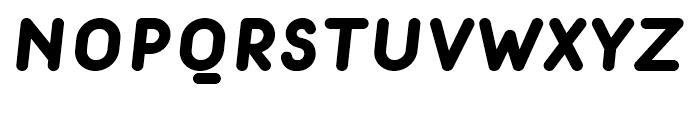 Macaroni Sans Heavy Italic Font UPPERCASE