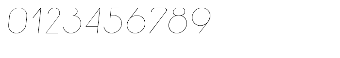 Macaroni Sans Thin Italic Font OTHER CHARS