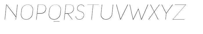 Macaroni Sans Thin Italic Font UPPERCASE
