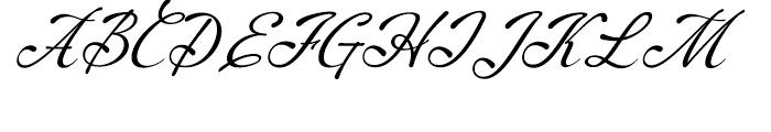 Machia Regular Font UPPERCASE