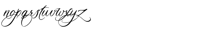 Madrigalle Minuet Font LOWERCASE