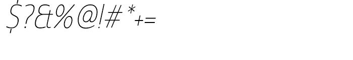 Madurai Cond Thin Italic Font OTHER CHARS