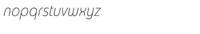 Madurai Cond Thin Italic Font LOWERCASE