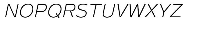 Magnum Sans Extra Light Oblique Font UPPERCASE
