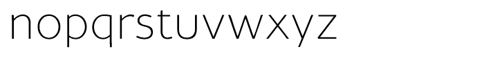 Maisee Extra Light Font LOWERCASE