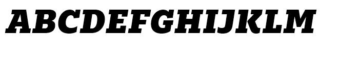 Majora Pro Black Italic Font UPPERCASE