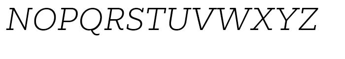 Majora Pro ExtraLight Italic Font UPPERCASE