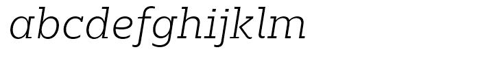 Majora Pro ExtraLight Italic Font LOWERCASE