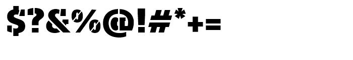 Majora Pro Stencil Black Font OTHER CHARS
