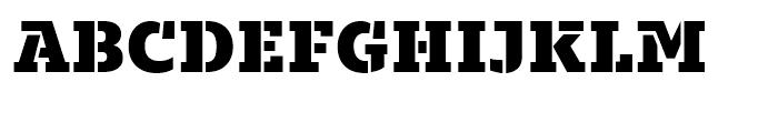 Majora Pro Stencil Black Font UPPERCASE