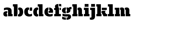 Majora Pro Stencil Black Font LOWERCASE