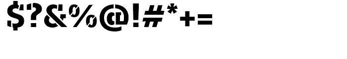 Majora Pro Stencil ExtraBold Font OTHER CHARS