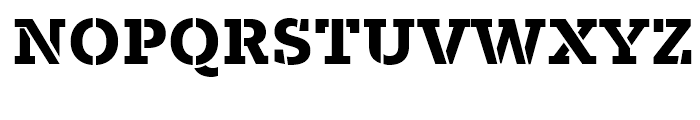 Majora Pro Stencil ExtraBold Font UPPERCASE