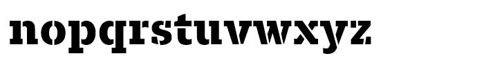 Majora Pro Stencil ExtraBold Font LOWERCASE