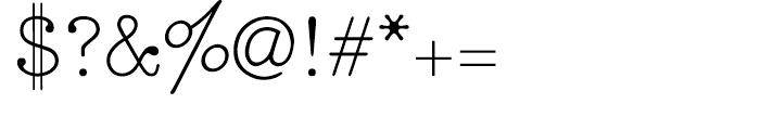 Makina Original Regular Font OTHER CHARS