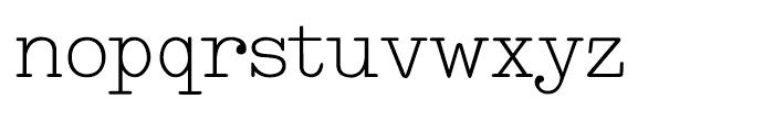 Makina Original Regular Font LOWERCASE