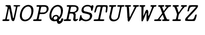 Makina Renovate Italic Regular Font UPPERCASE