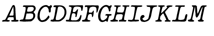 Makina Rough Italic Regular Font UPPERCASE