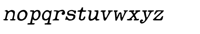 Makina Rough Italic Regular Font LOWERCASE