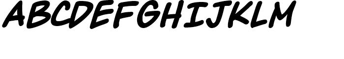 Maladroit Italic Font UPPERCASE
