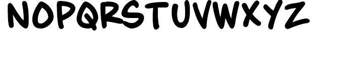 Maladroit Regular Font LOWERCASE