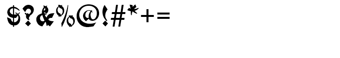 Mandarin Initials Standard D Font OTHER CHARS