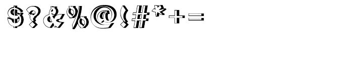 Mandarin Relief Standard Font OTHER CHARS
