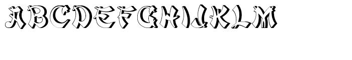 Mandarin Relief Standard Font UPPERCASE
