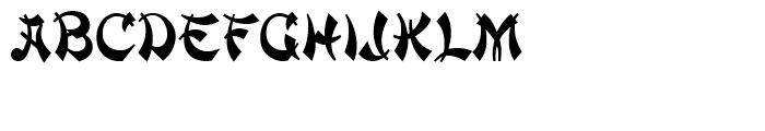 Mandarin Standard D Font UPPERCASE